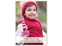 Custom Greeting Card (Vertical, Deluxe Size, Folded)